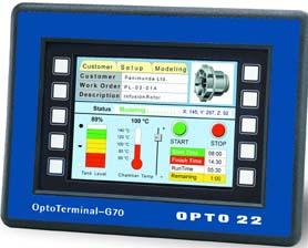 OPTO 22 新型工业平板式触模屏控制终端 G70