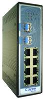 CAYEE INS-809 7端口10/100Base-TX + 2槽100Base-FX冗余型工业交换机