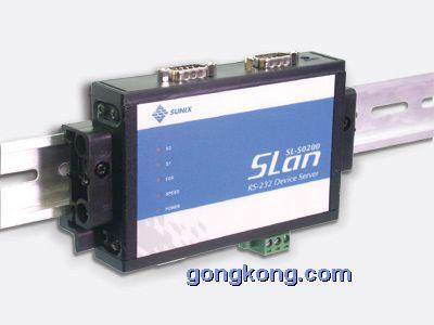 SUNIX工业型 2口 RS-232 以太网设备联网服务器(SL-S0200D)
