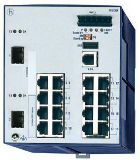 Hirschmann RS30-1602O6O6SDAEHC 千兆模块化交换机