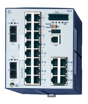 Hirschmann  RS20-2400M2M2SDAEHC 百兆一体化交换机