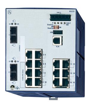 Hirschmann RS20-1600M2M2SDAEHC百兆一体化交换机