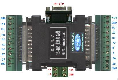 波士 1拖8口RS-485/232光隔集线器(带RS-232口)HUB8485G