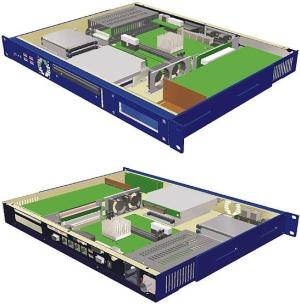 """歐泰 高性能1U 19""""計算機GEMINI™ ICE"""