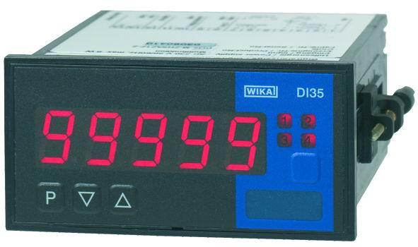 WIKA DI35 面板安装设计,5位数字显示温度显示仪