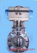 气动UPVC蝶阀、气动塑料蝶阀、气动塑料阀门