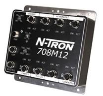 N-TRON 708M12 IP67工业以太网交换机