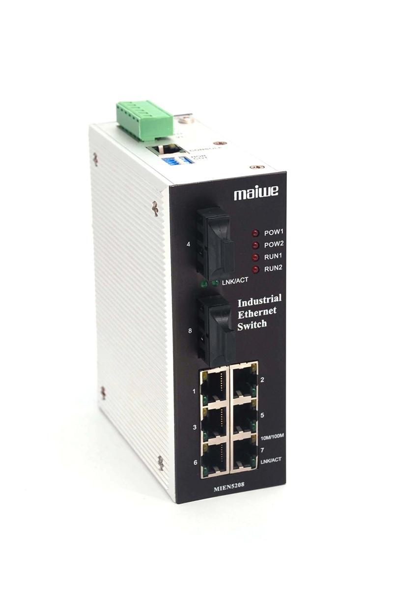 迈威网管冗余型卡轨式工业以太网交换机MIEN5208