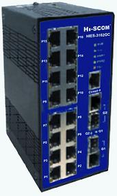 HIES-3162GC网管型16口工业以太网交换机