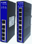HIES-1050A/HIES-1080A系列非网管超薄型工业以太网交换机