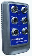 HIES-2050-M12 IP67简易网管型5口工业以太网交换机