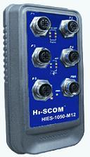 HIES-1050-M12 IP67非网管型5口工业以太网交换机