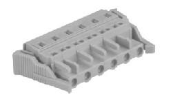 速普 2-24通道孔型连接器带卡接钩(防错插)MCS多用途弹簧连接器