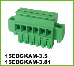 高正 15EDGKAM-3.5/3.81 PCB插拔式接线端子台