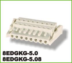 高正 8EDGKG-5.0/5.08 PCB插拔式接线端子台