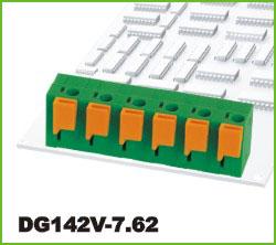 高正 DG142V-7.62 PCB弹簧式接线端子