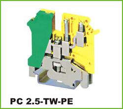高正 PC2.5-TW-PE 导轨式端子台