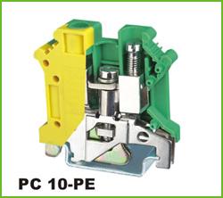 高正  PC 10-PE  导轨式端子台