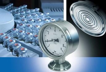 堡盟 DP 100 无导压油卫生型膜片压力表
