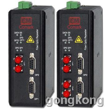 訊記profibus轉光纖中繼器同時傳輸兩路dp總線