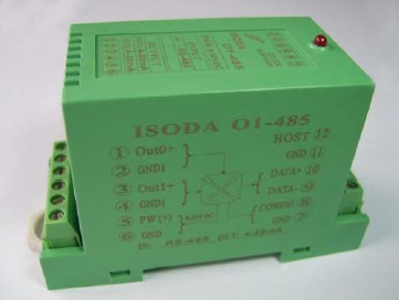顺源科技 RS232/485转模拟信号隔离D/A转换器