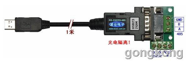 波仕电子 高速光隔微型USB/串口转换器USB232GH4