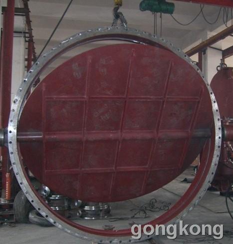 上海览钰   D943H-2.5C/6C DN5800大口径硬密封法兰蝶阀