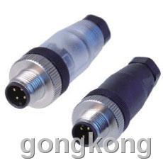 宜科  现场接线式I/O连接器-直线针端M12(F)