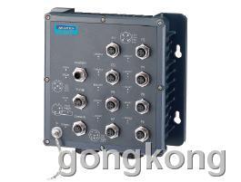 研華  8×M12+2×LC光纖端口IP67寬溫網管型工業以太網交換機EKI-6559TMI