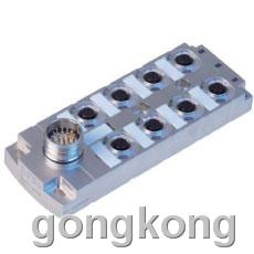 ELCO-宜科 全金属分线盒(ECM系列M12接口-圆形插头出线型)