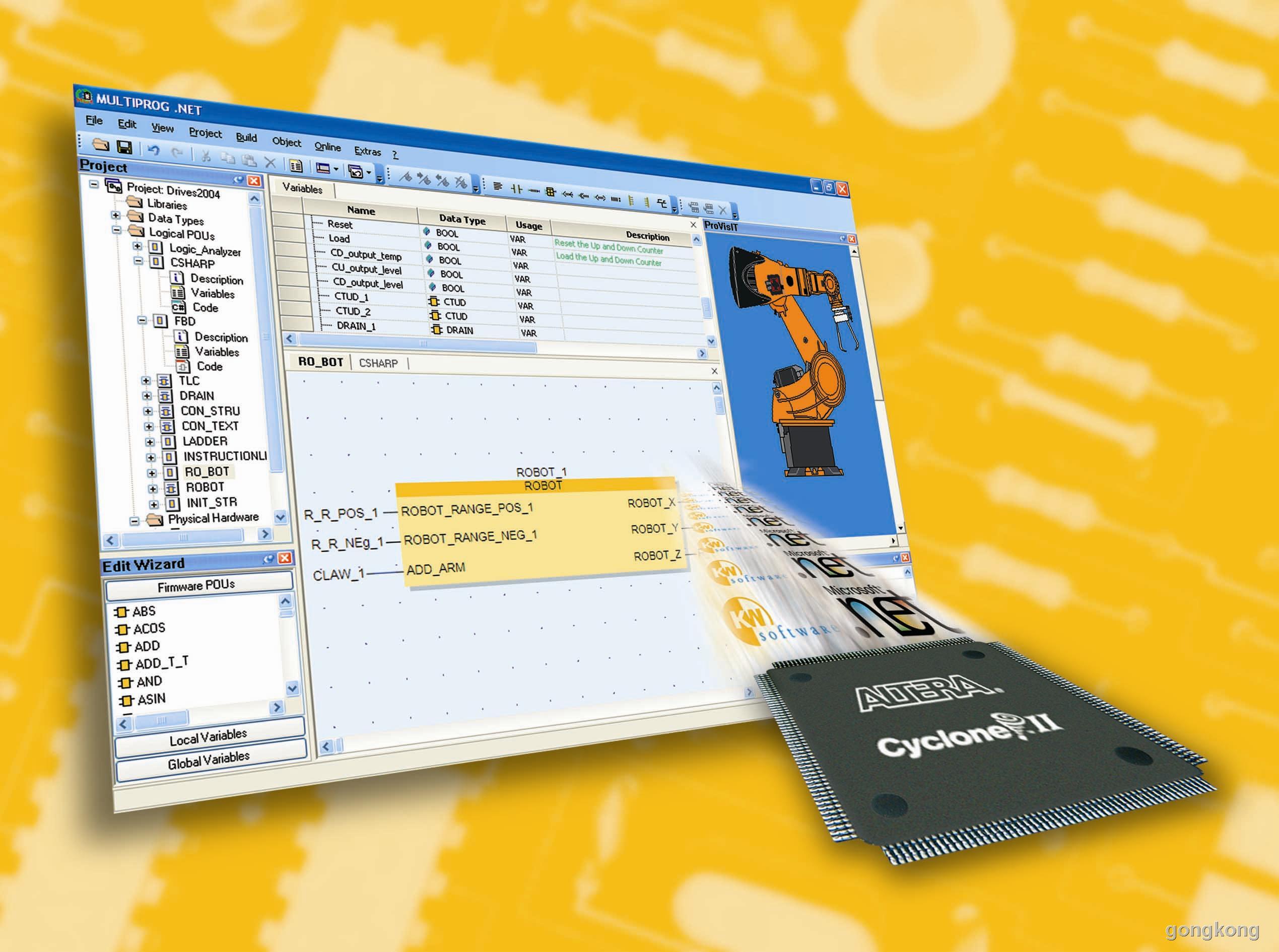 ProConOS eCLR - IEC 61131 PLC运行时系统(支持.NET代码)
