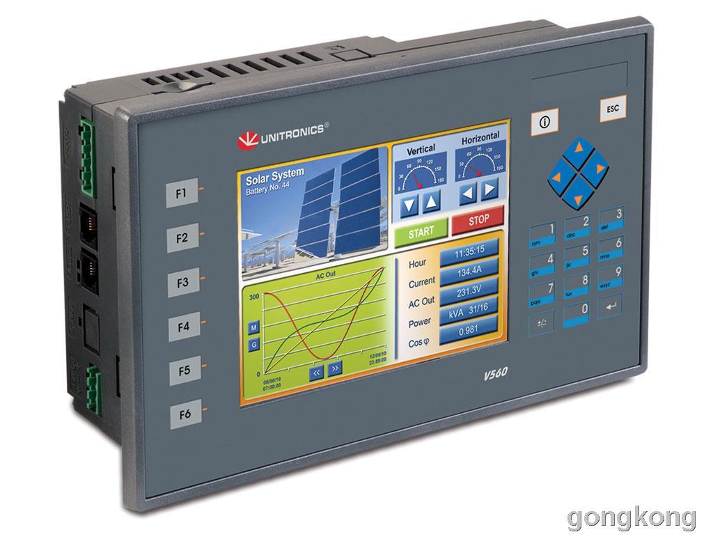 unitronics(犹尼康)  V560-T25B PLC/HMI系列图控一体化产品