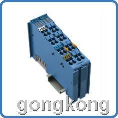 WAGO2通道模拟量输出的Ex-i模块用于连接来自危险爆炸区域的执行器
