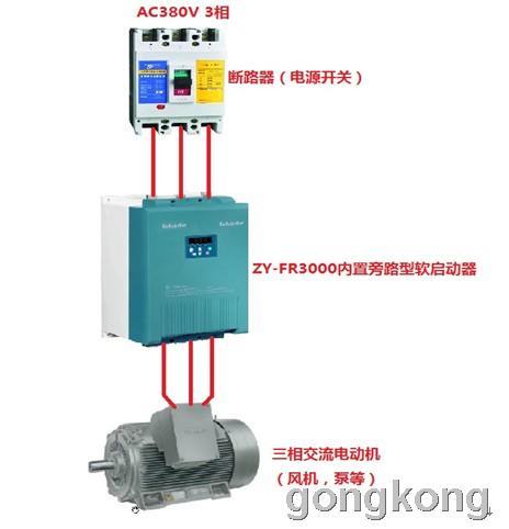 中源动力 ZY-FR3000系列内置旁路型电机软起动器