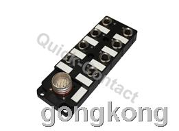 快可QC M12分线盒-圆形插头出线型4针
