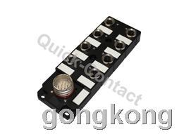 快可QC M12分线盒-圆形插头出线型5针