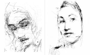 左边是艺术家特雷塞的素描作品,右边是机器人的作品,你能看出来吗图片