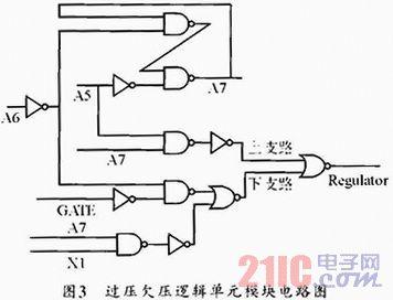 输入检测信号为本片内电源电路的欠压保护信号,当vin低于110v时片内