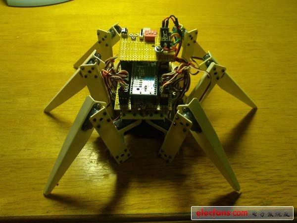 图解六足移动机器人的构造