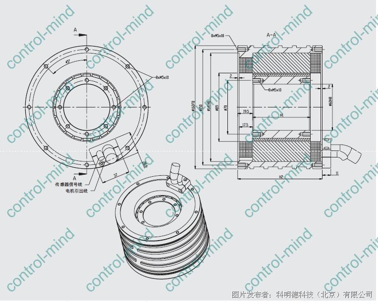 科明德推出德国idam盘式中空力矩电机——ri内转子力矩电机