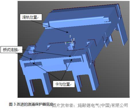 施耐德 改善缺口翘曲变形的桥式连接设计