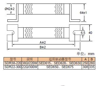 伺服系统专用制动电阻
