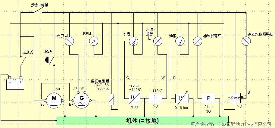 沃尔沃柴油发动机推荐电路图