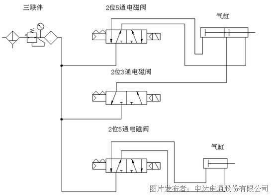 控制气缸行程接线图