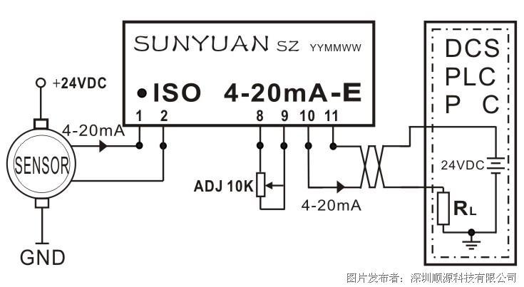 顺源新推出无源型隔离放大器隔离变送器应用方案