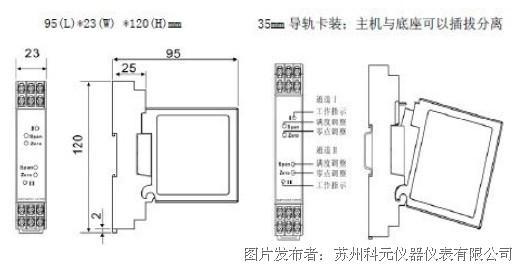 苏州科元推出4-20ma隔离配电器