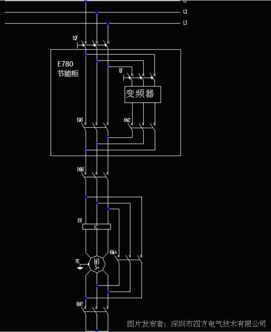 1)主回路电气图,如图一:   2,e680系列变频节能柜控制电路   图二
