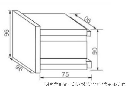 三相电流表的产品结构图