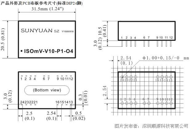 顺源科技mv模拟微小信号隔离放大器
