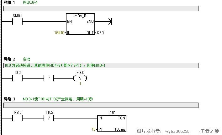 plc振荡电路的梯形图